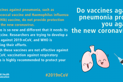 Do vaccines against pneumonia protect you against the new coronavirus