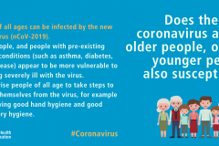 Does the new coronavirus affect older people, or are younger people also susceptible
